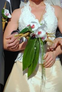 """Bouquet mariée réalisée pour le thème """"Paille"""" du mariage."""