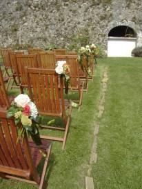 Cérémonie laïque de mariage, fleurissement.