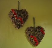 coeur accompagné de roses stabilisées pour le plus grand bonheur des mariés