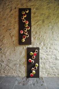 Piece unique, en duo ou en trio, mes tableaux s'installent dans votre intérieur selon vos envies à la verticale ou à l'horizontal.
