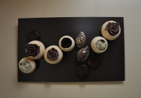 """Café chocolat"" un tableau gourmand au camaïeu poétique."