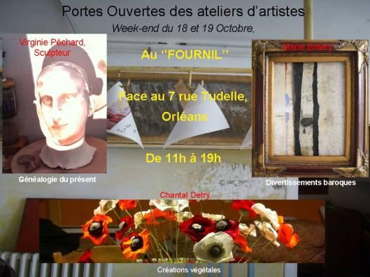 Marie Emery a deux invitées ce week end dans son atelier :  Virginie Péchard, sculpteur et chantal Detry, Créatrice de Nature
