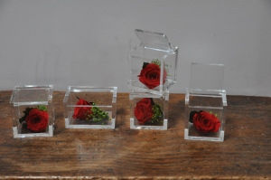 Une rose dans son écrin  pour l'éternité