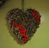 coeur roses rouges stabilisées