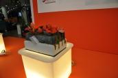 création réalisées pour la CAPEB en matériaux recyclés des artisans du batiment