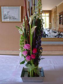 Création florale pour buffet de mariage