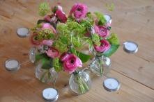 Couronne de table avec lumignons aux couleurs de votre choix