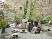 Installation d'un jardin éphémère pour les portes ouvertes du showroom.